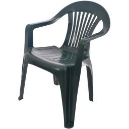 SILLA DE PVC PRO GARDEN VERDE C/POSABRAZOS A5820