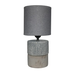LAMPARA DE MESA CERAMICA/CEMENTO 15X15X33 CM GRIS